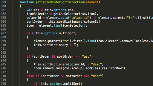 sublime code screenshot